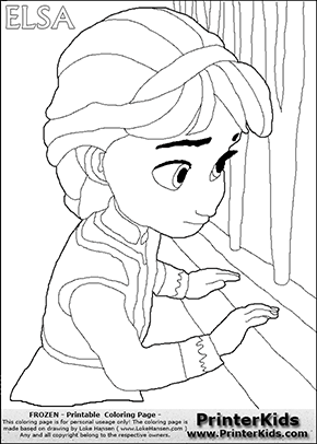frozen coloring pages young Frozen Coloring Pages Young Anna