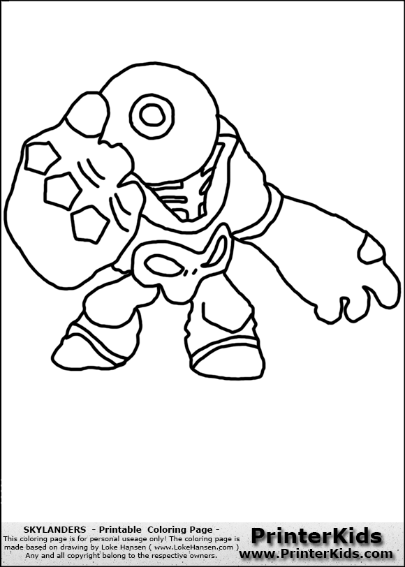 Zookcolering free colouring pages for Skylanders giants coloring pages eye brawl